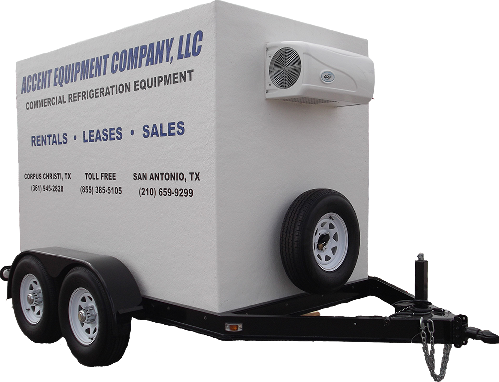 Portable Freezer Trailer : Portable refrigerated trailers for rent freezer